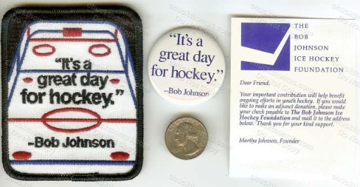 Coach Badger Bob Johnon Hockey Patch and Pin