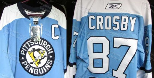Sidney Crosby Baby Blue AUTHENTIC Rebook Jersey