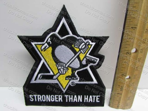 Penguins Stronger Than Hate Jersey Patch