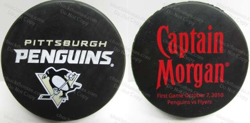 Pens Captain Morgan Puck First Game Oct 7, 2010