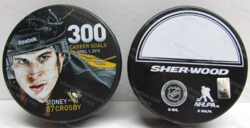 Sidney Crosby 300 Goals Puck