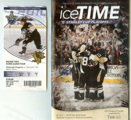 Last Game Ticket and Program