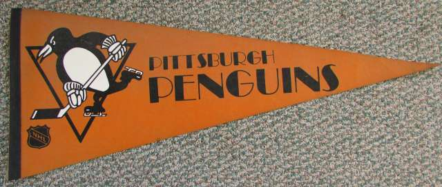 Penguins 1970s? Full Size Orange Pennant