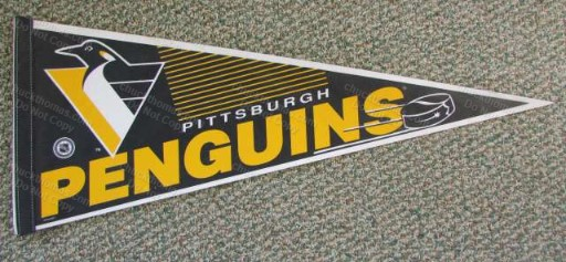 Penguins 1990s Logo Full Size Pennant