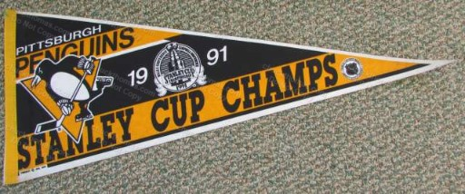 Penguins 1991 Stanley Cup FULL Size Pennant