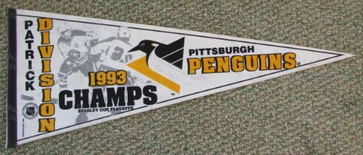 Pens 1993 Patrick Division Champs Full Size Pennant