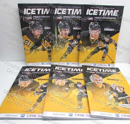 Penguins 2018 Home Game Playoff Programs ALL 6
