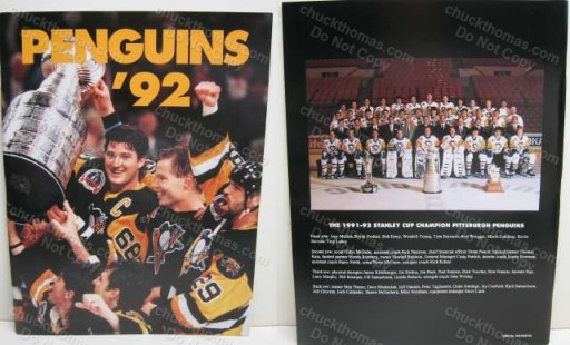 1992 Stanley Cup Champs Post-gazette Booklet