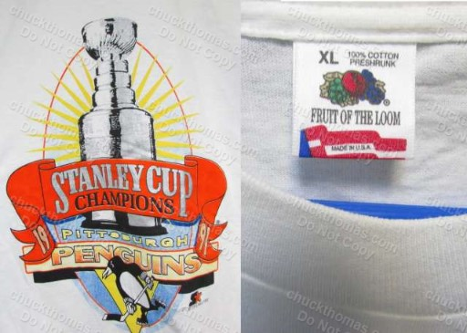 Penguin Hockey ORIGINAL 1991 Stanley Cup Champtions Tee Shirt