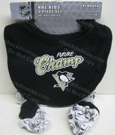 Penguins Bib Booties and Cap