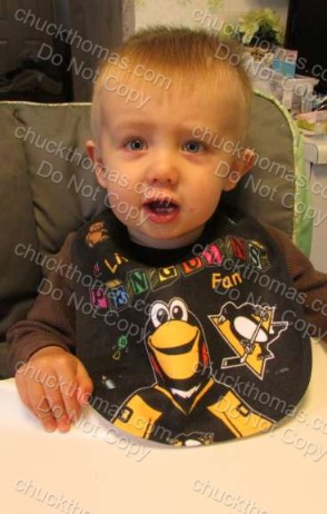 Littlest Penguin Fan Baby Bib