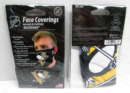 Penguin Hockey Cloth Face Mask