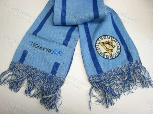 Penguins Blue 1967 Logo Knit Scarf 'It's a Great Day for Hockey'