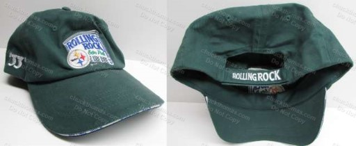 Steelers and Rolling Rock Logs 2005 Green Ball Cap