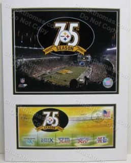 Steelers 75th Anniverary Photo and Postal Cachet