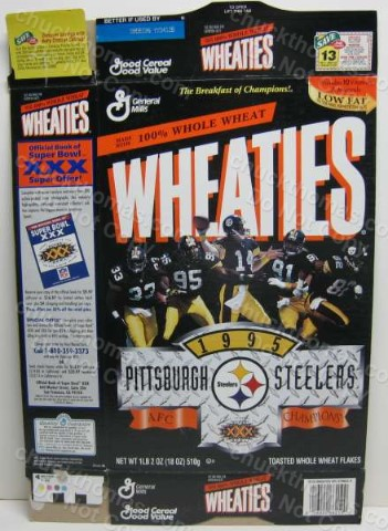 Steelers 1995 Wheaties Box