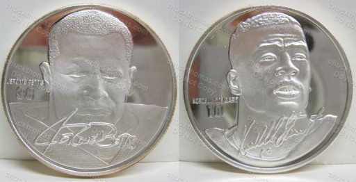 Jerome Bettis and Kordell Stewart Highland Mint .999 Silver Coin