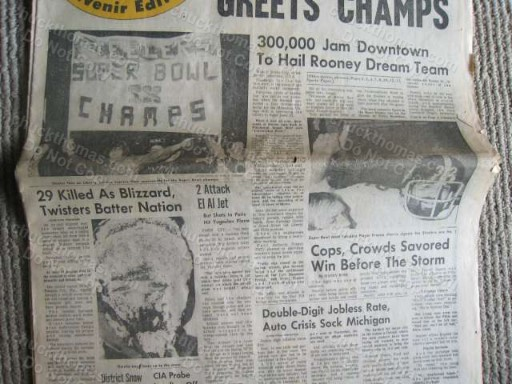 Steelers SB IX ORIGINAL Piress Paper Pittsburgh PA