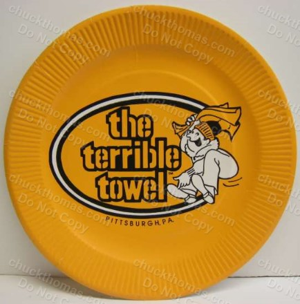 Steeler Old Terrible Towel Paper Plate