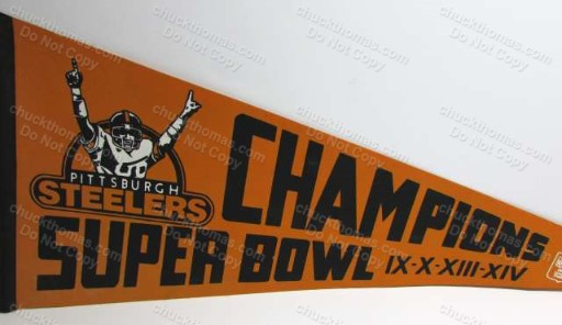 Steelers 4 Times Super Bowl Champs Pennant