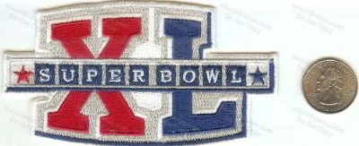 Steelers Super Bowl XL Cloth Patch