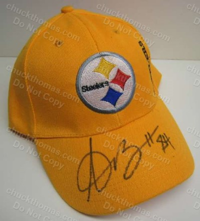 Steeler Antonio Brown Autographed Gold Steeler Ball Cap
