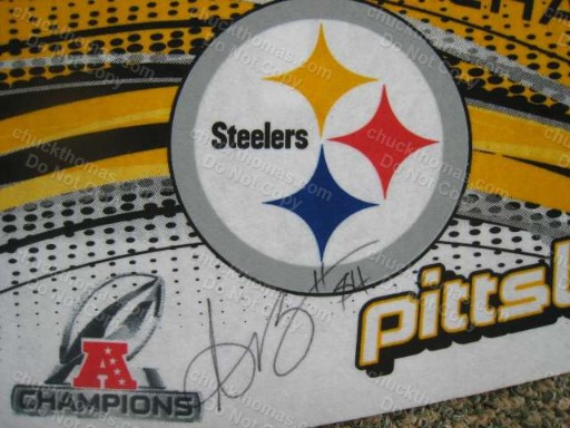 Steeler Antonio Brown Number 84 Signed Steeler Pennant