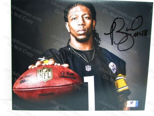 Steeler Bud Dupree Signed 8x10 Photo with a Global COA