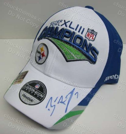 Steeler Quarterback Ben Rothlisberger Signed SB XLIII Champs OFFICIAL Locker Room Ball Cap