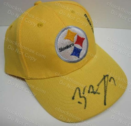 Ben R Autoraphed Gold Steeler Ball Cap