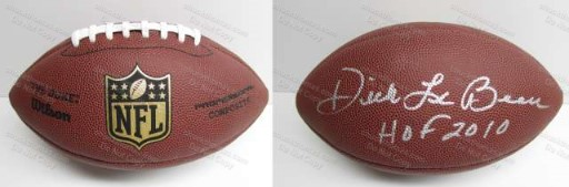 Steeler Defensive Coach Dick LeBeau Autographed Full Size Wilson Football