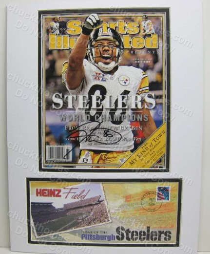 Hines Ward Auto SBXL Sports Illustrated Double Matted