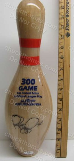 Jerome Bettis Autographed 300 Perfect Game AMF Bowling Pin