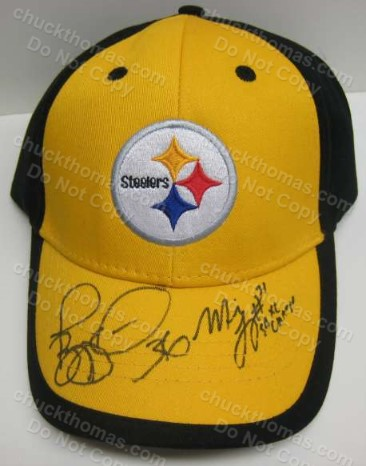 Jerome Bettis and Mike Logan Autographed Steeler Ball Cap