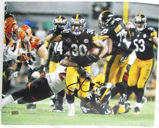 Steeler James Conner 8x10 Autographed Photo