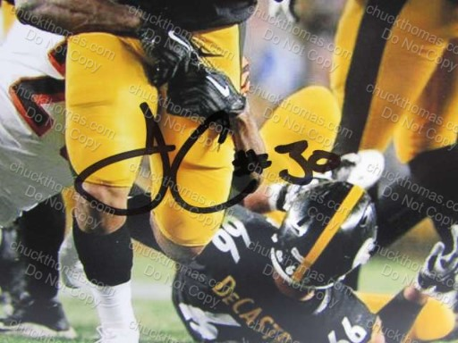 Steeler Running Back James Conner 8x10 Autographed Photo