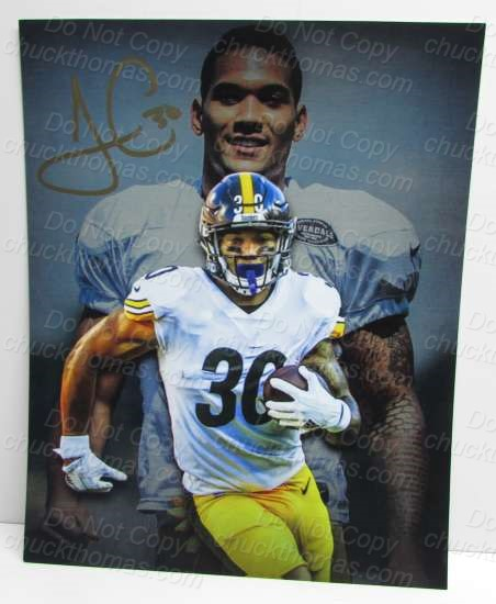 James Conner Steeler Signed 8x10 Photo
