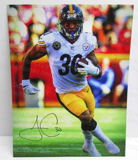 James Connor Signed Steeler 8x10 Action Photo