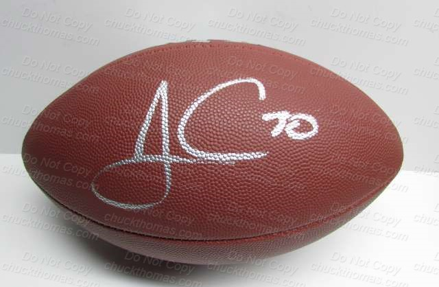 James Connor Signed Wilson Football