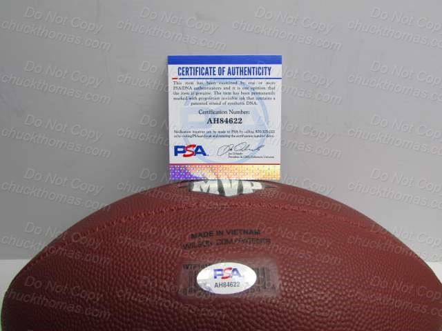 James Connor Signed Wilson Football PSA COA