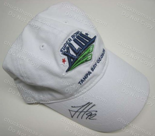 James Harrison Autographed SBXLIII Logo White Ball Cap