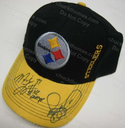 Steelers Mike Logan and Jerome Bettis Autographed Ball Cap