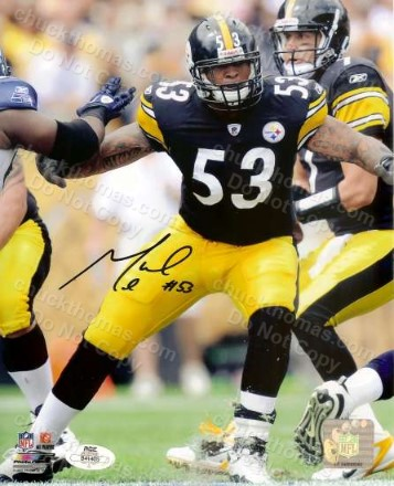 Steeler Center Maurice Pouncey Auto 8x10 with an ACE COA