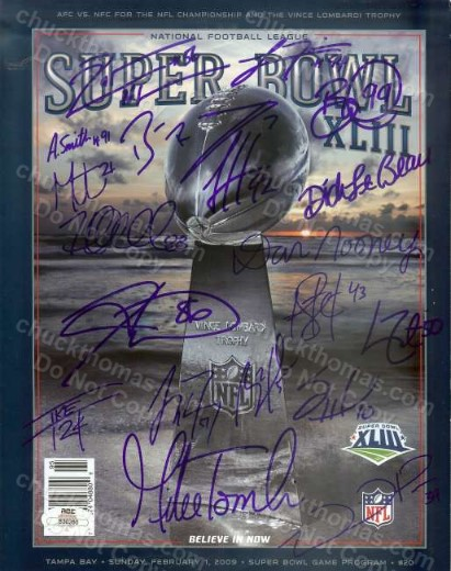 Steelers Team Signed SB XIII Program