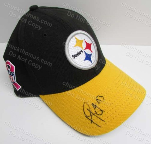 Troy Polomalu Signed Steeler Logo Ball Cap