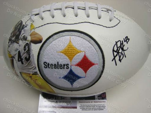Troy Polamalu Autographed Super Bowl Football with Certificate of Authenticity