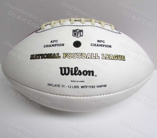 Polomalu Signed Steeler Wilson Football