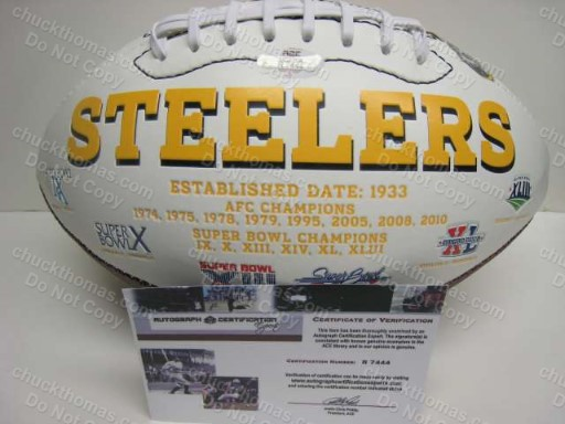 Troy Polamalu Autographed Football ACE COA