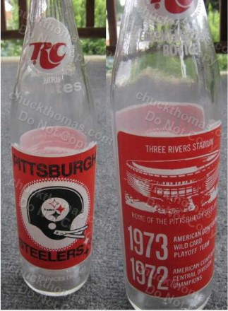 1972 RC Cola Steelers 3 Rivers Stadium Bottle