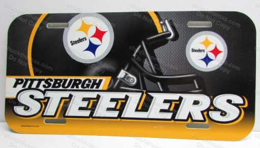 Steeler Football Helmet Logo Full Size Car License Plate
